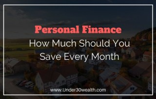 how much should you save every month